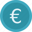euro, euro coin, euro currency, money icon