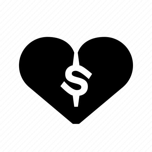 heartbroken, money, money-love icon