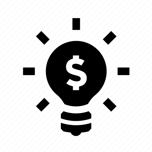 bulb, dollar, economy, ideas, innovate, money icon