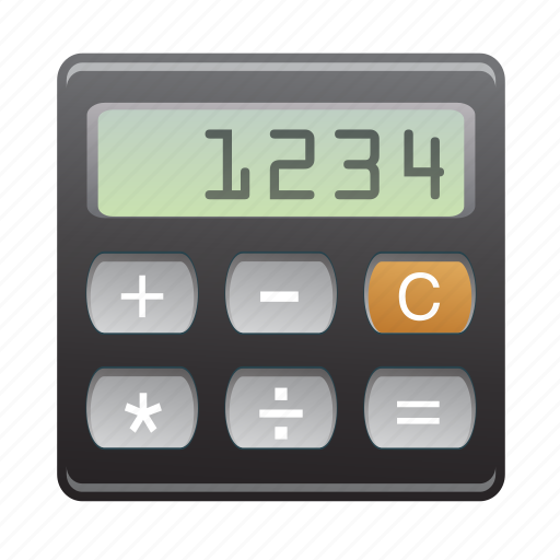 calculator, device, display, screen icon