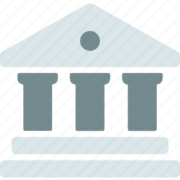 bank, banking, building, business, currency, finance, money icon