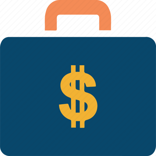 bag, banking, briefcase, business, doller, finance, suitcase icon