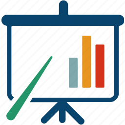 analytic, business, chart, finance, graph, presentation, whiteboard icon