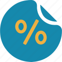 busines, cash, finance, pay, percent, percentage, shop icon