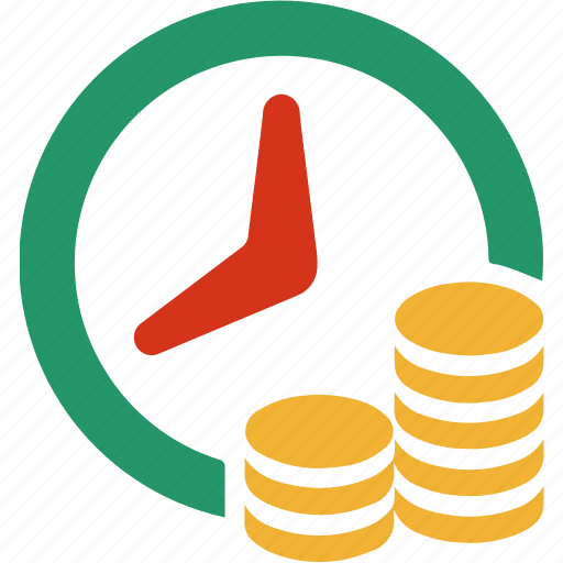 busines, cash, clock, finance, pay, shop, time icon