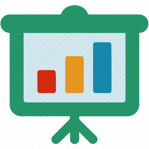 analysis, business, data, finance, graph, presentation, whiteboard icon
