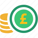 business, coin, finance, money, pay, pound, shop icon