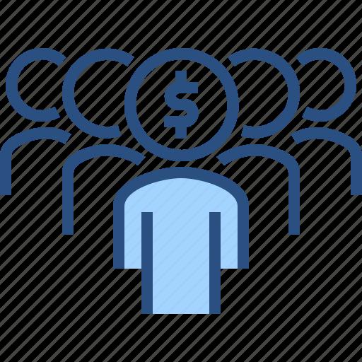 crowd, finance, financial, funding, money icon