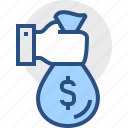 banking, business, finance, hand, loan, money icon