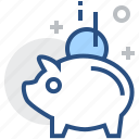 bank, banking, finance, financial, money, piggy, saving icon