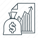 business, chart, finance, graph, growth, success icon