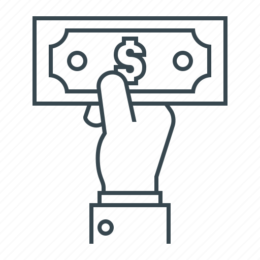 cash payment, currency, dollar, hand, money, payment icon