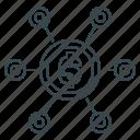 affiliate marketing, business, crowdfunding, finance icon