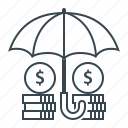 funds protection, insurance, protection, umbrella icon