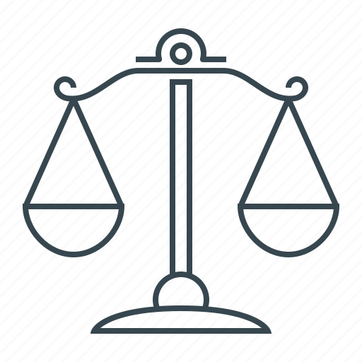 Law, libra, scales, balance, court, justice icon - Download on Iconfinder