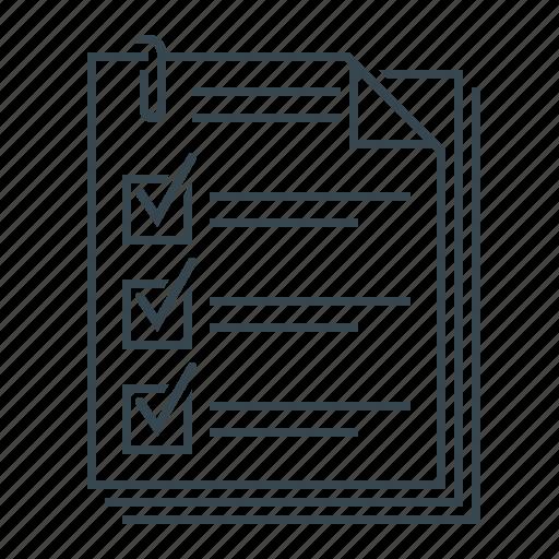 checklist, document, documents, format, questionnaire icon