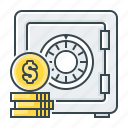 bank, banking, deposit, deposit account, safe, saving, savings account icon