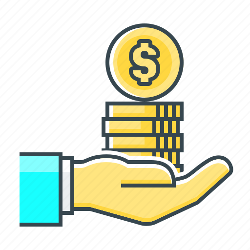 cent, coins, finance, hand, loan, loan money, money icon