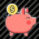 banking, money box, money saving, piggy, piggy bank, saving icon