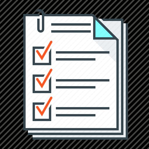 Questionnaire, data, documents, list, checklist icon - Download on Iconfinder