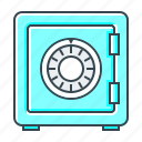 bank, locked, password, privacy, protection, safe, safety icon