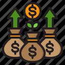 money, finance, bag, cash, growth