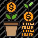 money, finance, growth, plant, business