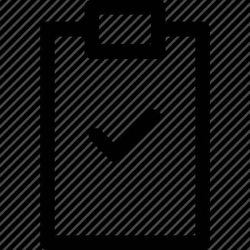 business, check, finance, list, outline, peaper icon