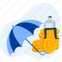 banking, finance, insurance, loan, money, protection, security icon