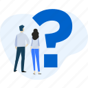 assistance, faq, help, people, question, service, support icon