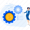 business, crowdfunding, investment, management, process, project, startup icon