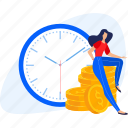 banking, business, finance, money, payment, people, time icon