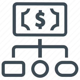 banking currency, finance, hierarchy, money icon