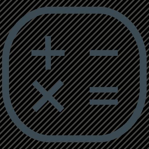 accounting, calculate, calculation, calculator, math icon