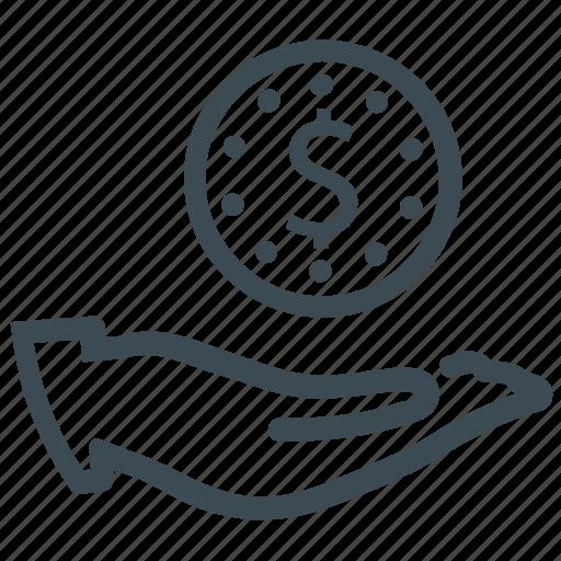 coin, loan, revenue icon