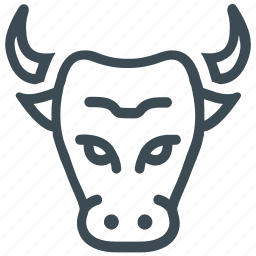banking, bull head, bull market, finance, stock market icon