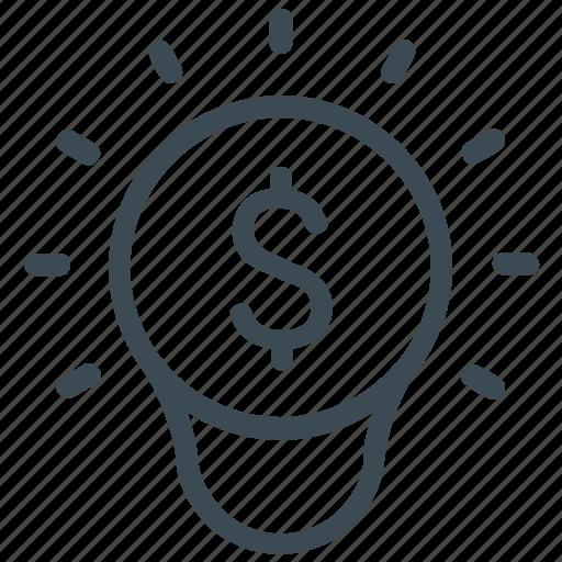 brainstorming, business, dollar, finance, idea, marketing, solution icon