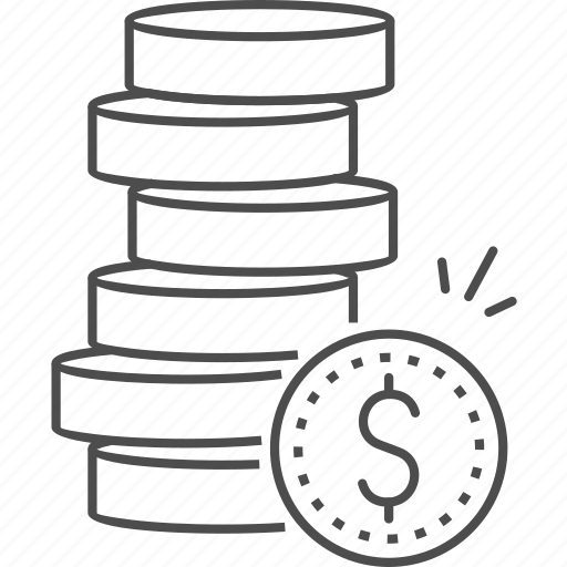 coins, currency, finance, financial, money, stack icon