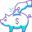 bank, banking, coin, finance, money, piggy, savings
