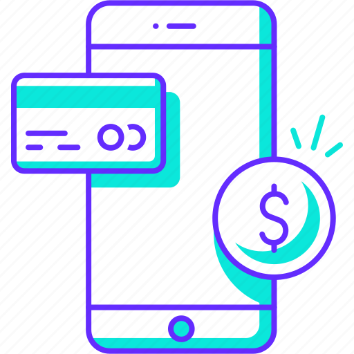banking, mobile, money, payment, phone, transaction icon