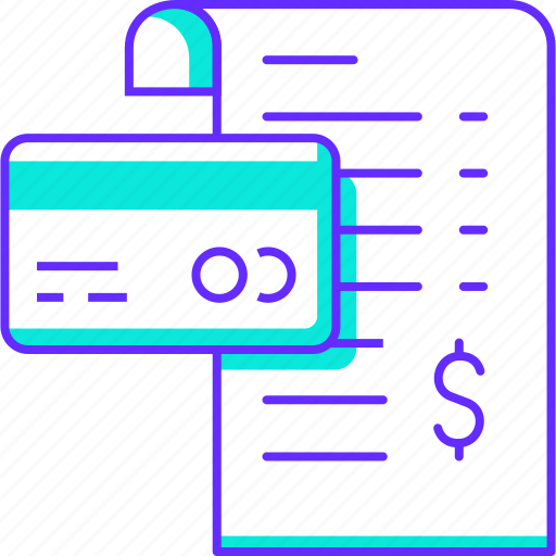 bill, billing, card, financial, pay, payment icon