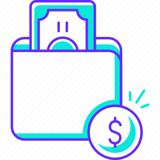 cash, finance, money, paying, shopping, wallet icon