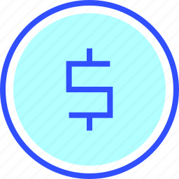 accounting, business, coin, finance, office, startup icon