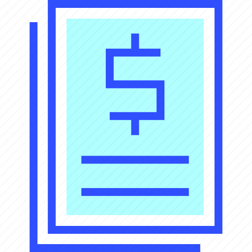 accounting, business, contract, finance, office, startup icon