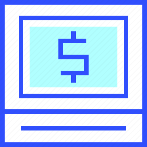 accounting, business, cash, finance, machine, office, startup icon