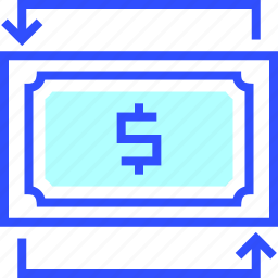 accounting, business, exchange, finance, office, startup icon