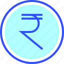 accounting, business, finance, office, rupee, startup icon