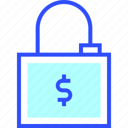 accounting, business, finance, office, padlock, startup icon