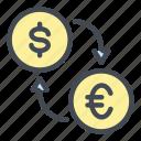 money, dollar, euro, coin, exchange, change, finance