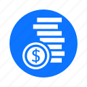 business, circle, coins, economy, finance, payment icon